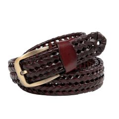 Winsome Deal Dark Brown Genuine Leather Casual Belts For Men's