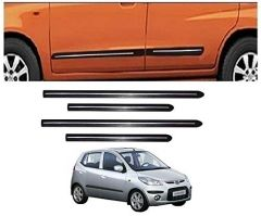 After Cars Hyundai i10 Old Car Black Side Beading with Chrome Line Set of 4