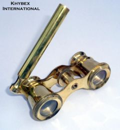 Vintage Brass Binoculars Mother of Pearl La Dauphin Paris Opera Glasses Polish Finish Full Brass