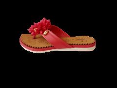 Footshine Women's Fashion & Stylish Pad Slipper (Red)