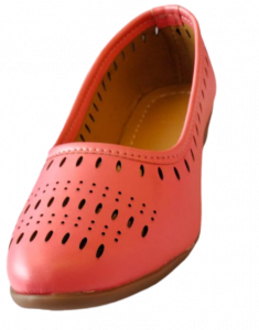 Footshine Kids Girls Fashion & Stylish Bellies Shoes For 2 to 5 Years Old (Neon Pink)