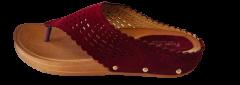 Footshine Women's Fashion & Stylish Comfort Slipper (Red)