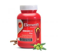 Elements Immuno 3 Plus Immunity Booster Tablets (60 Tab) (Pack of 1)