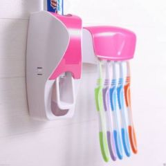 Plastic Toothbrush Holder (Multi-color, Wall Mount)