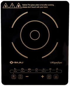 Bajaj Magnifique 2000 Watts Operating Voltage 220-240 Volts Induction Cooktop with 7 Auto Cook Touch Button
