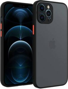 Shock Proof Smooth Rubberized Camera Protective Mobile Back Cover for iPhone 12 Pro Max