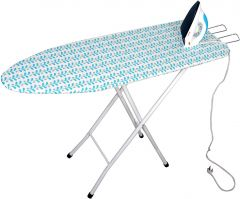 PALOMINO Queen Size Ironing Table Stand With Foldable & Height Adjustable (Blue)