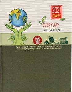 Toss Designer B5 Diary Ruled 365 Pages (Brown) (Pack OF 1)