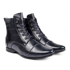 BXXY 3 Inch (7.6 cm) Height Increasing Formal And Casual Faux Leather Lace-up Boots (Instant 3 Inches Hidden Height Gainer)