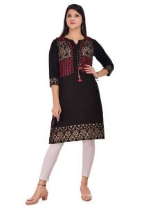 Stylish and Fashionable Printed Layered Rayon Kurta With Jacket For Women's