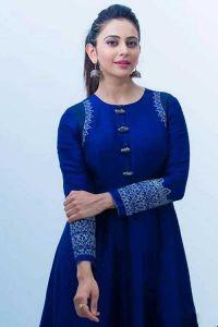 Fashionable and Bollywood Style Rayon Anarkali Kurta With Full Sleeve (Royal Blue)