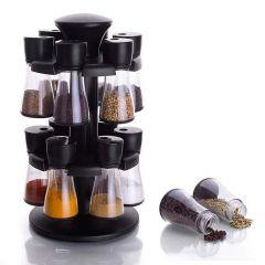 Condiment Set Spice Rack - Premium Multipurpose Revolving Plastic Spice Rack