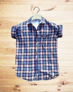 JBKFASHIONS Slim Fit Checkered Spread Collar Casual Shirt