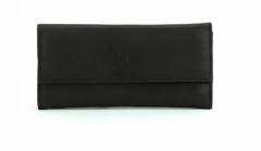 ASPENLEATHER Designer Leather Genuine Jewellery Roll Bag For Women (Black)
