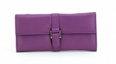 ASPENLEATHER Designer Leather Jewellery party Bag For Women (Purple)