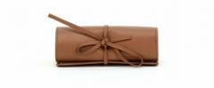 ASPENLEATHER Designer Leather Jewellery Bag For Women (Tan)
