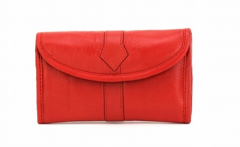 ASPENLEATHER Designer Leather Jewellery Bag For Women (Red)