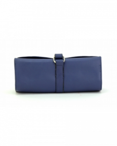 ASPENLEATHER Designer handcrafted Leather Jewellery Bag For Women (Blue)