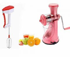 ABS Plastic Manual Hand Juicer Kitchen Press and Blender (Multicolour) (Pack of 2)
