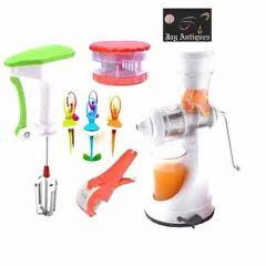 Plastic Juicer   Veg Cutter   Crusher   Fruit Fork Hand Blender (Pack of 5)