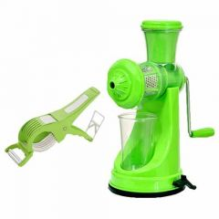 Combo of Hand Fruit & Vegetable Juicer with Steel Handle and Vegetable Cutter (Pack of 2)