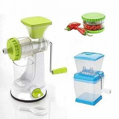 Fruit Vegetable Hand Juicer Multi Crusher and Chilly Cutter (Pack of 3)