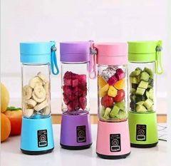 Vaishvi Portable Electric USB Juice Maker & Grinder Mixer with 4 Blades Rechargeable Juicer Blender Bottle