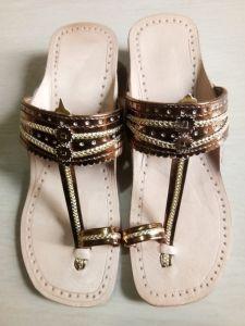 JYOTI FOOTWEAR Women's Leather Slip-On Sandal and Slippers