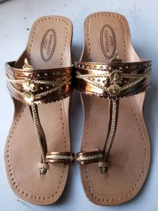 JYOTI FOOTWEAR Women's Comfortable Leather Flat Sandal and Slippers