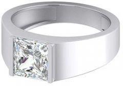 Jewelzon Sterling Silver Swarovski Crystal Rhodium Plated Ring | Sterling Silver