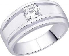 Jewelzon Sterling Silver Swarovski Crystal Rhodium Plated Ring Occasion: Everday