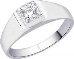 Sterling Silver Swarovski Crystal Rhodium Plated Ring   Sterling Silver   Rhodium Plating
