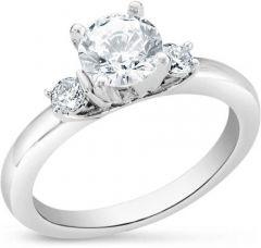 Jewelzon Setting Ring for Women Sterling Silver Swarovski Crystal Rhodium Plated Ring Swarovski Prongs