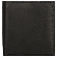 ASPENLEATHER Black Genuine Leather Credit Card Holder For Men