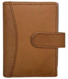 Splash USA Tan Genuine Leather Credit Card Holder For Men