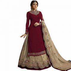 Womens Net Semi-stitched Lehenga Choli, Stylish Lehanga and dupatta