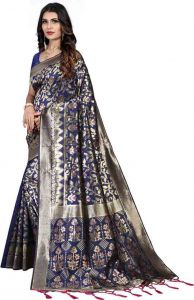 Embroidered Pattern Printed Fashion Jacquard Fabric Saree