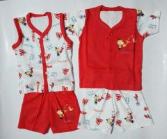 Baby Boys & Baby Girls Party(Festive) T-shirt and Shorts (0-6 Months)