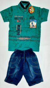Modern Stylish Boys Printed Half-Sleeve T-Shirt and Pants for 18-24 Months Kids