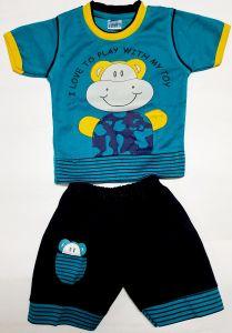 Modern Stylish Boys Half-Sleeve T-Shirt and Pants For Kids