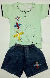 Modern Stylish Boys Half-Sleeve T-Shirt and Pants for 18-24 Months Kids