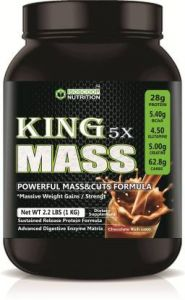 Iso scoop nutrition King Mass Chocolate Flavored MASS&CUTS (Pure vegetarian) 1 KG Weight Gainers/Mass Gainers  (1 kg, Chocolate Rich coco)