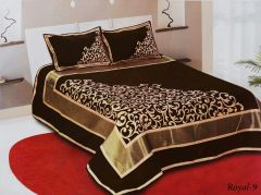 Fabric Empire Velvet Bedsheet and 2 Cushion Cover Prime Quality for King Size (90 x 100 Inch)