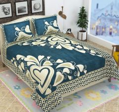 Fabric Empire Velvet Bedsheet and 2 Cushion Cover PerfectQuality for King Size (90 x 100 Inch)