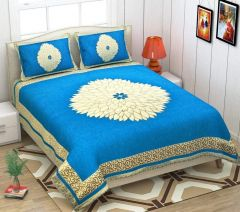 Fabric Empire Velvet Bedsheet and 2 Cushion Cover Premium for King Size
