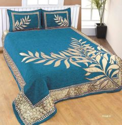 Fabric Empire Velvet Bedsheet and 2 Cushion Cover Premium for King Size (230 x 250 Cm)