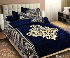 Fabric Empire Velvet Bedsheet and 2 Cushion Cover Best Quality for King Size (90 x 100 Inch)