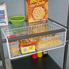 Under Shelf, Cabinet Storage Basket (White)