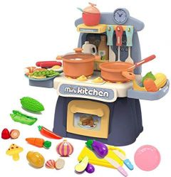 TECHTOY-Disney Barbie Mini Kitchen Cooking Toy Set With Utensils & accessories ForGirls (Multi-Color)