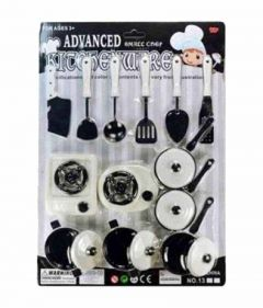Kitchenware Set Role Play Plastic Toys for Kids (Random Color Will Ship) (Pack Of 1 Set)